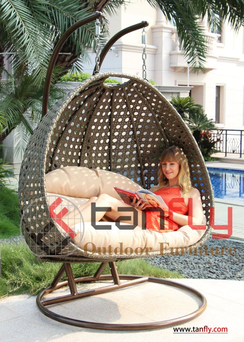 Tanfly Tf 9716 Luxury Teardrop Wicker Hanging Chair