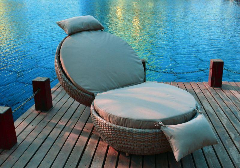 Outdoor Relaxen Rattan Lounge Betten