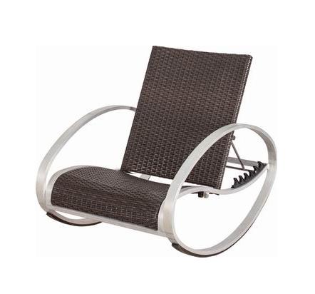 Tanfly TF-134017 Adjustable Rattan Rocking Chair Rocker