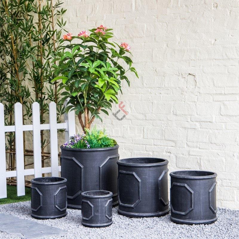 Concrete Indoor Garden Fiberglass Big Cement Cheap Flower Pot