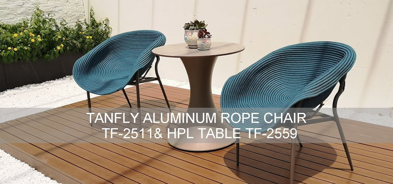 Tanfly Aluminum Rope Chair & Hpl Table