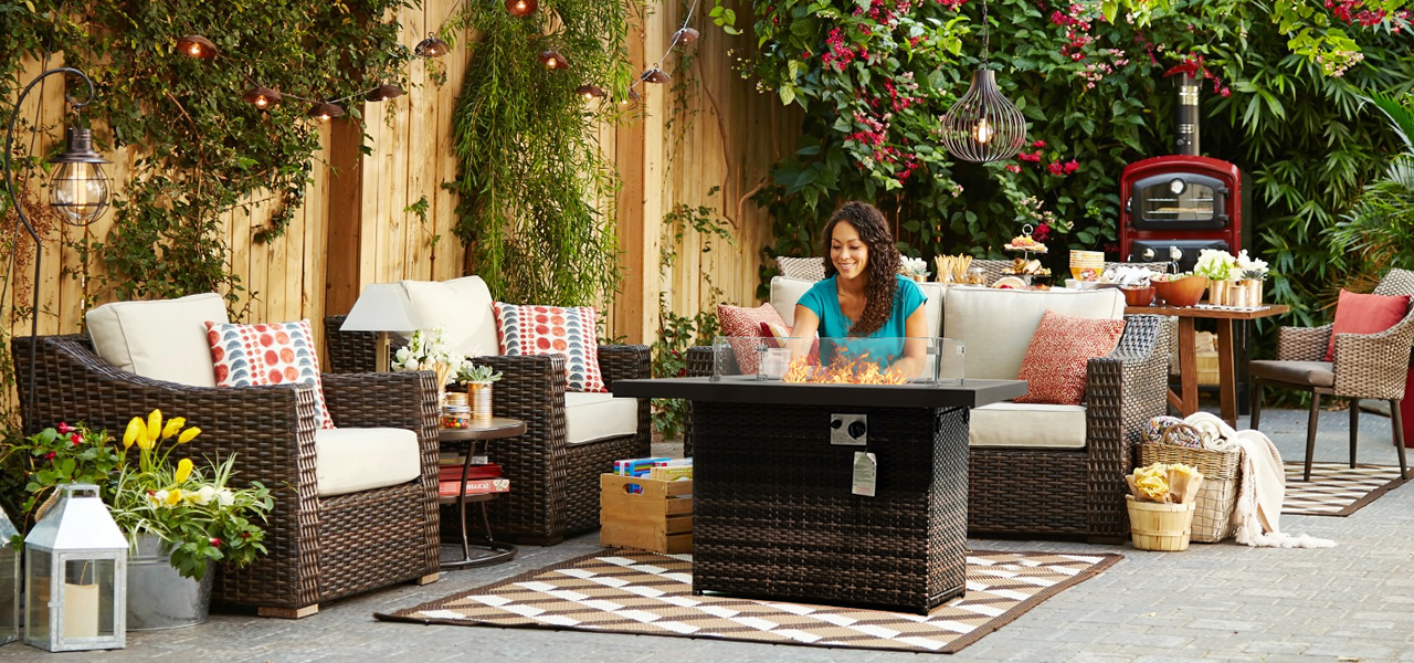 Hot Sale: Patio high quality propane fire pit table